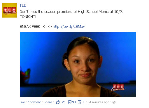 Picture of TLC show High School Moms