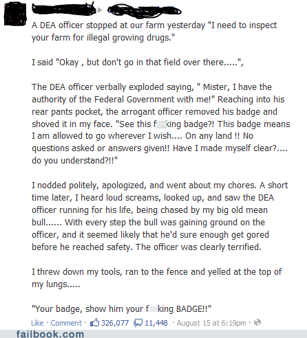 Show Him Your Badge