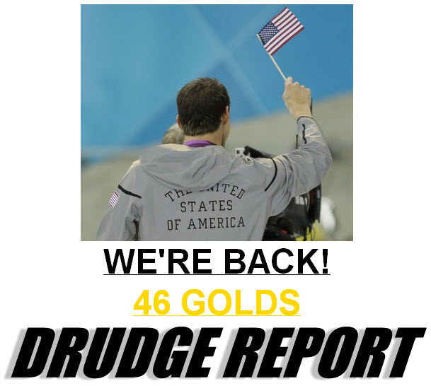 Pic from Drudge report Showing America Won 46 Golds